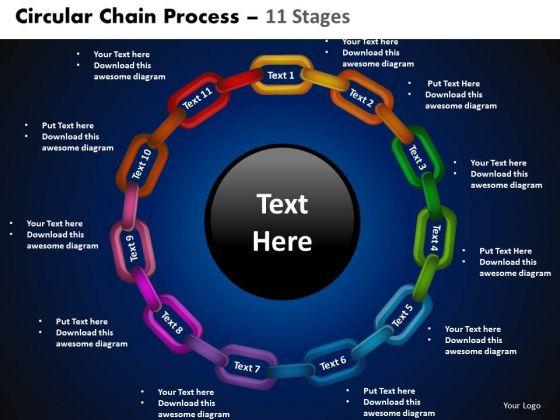 PowerPoint Designs Circular Process Circular Gears Ppt Presentation