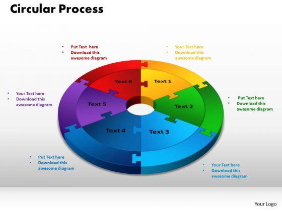 PowerPoint Designs Circular Process Teamwork Ppt Backgrounds
