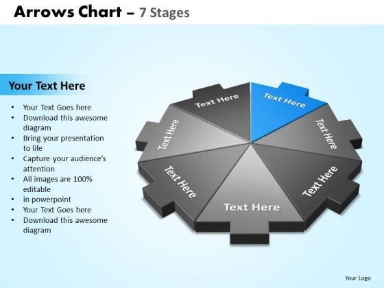 PowerPoint Designs Company Arrows Chart Ppt Presentation