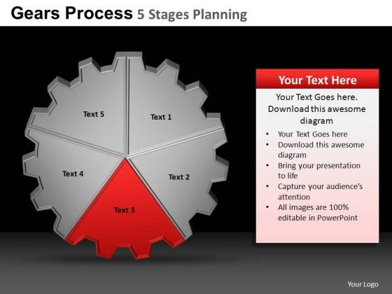 PowerPoint Designs Company Gears Process Ppt Slides