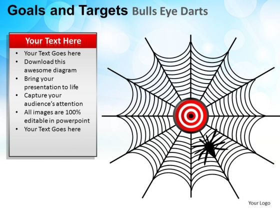 PowerPoint Designs Company Goals And Targets Ppt Design