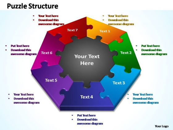 powerpoint designs company puzzle structure ppt template, Powerpoint templates