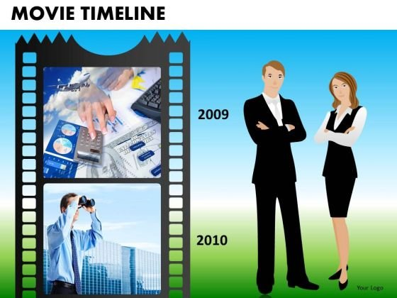 PowerPoint Designs Company Teamwork Movie Timeline Ppt Layout