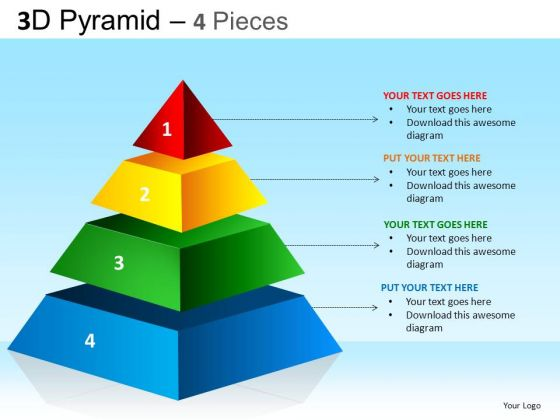 PowerPoint Designs Corporate Competition Pyramid Ppt Process