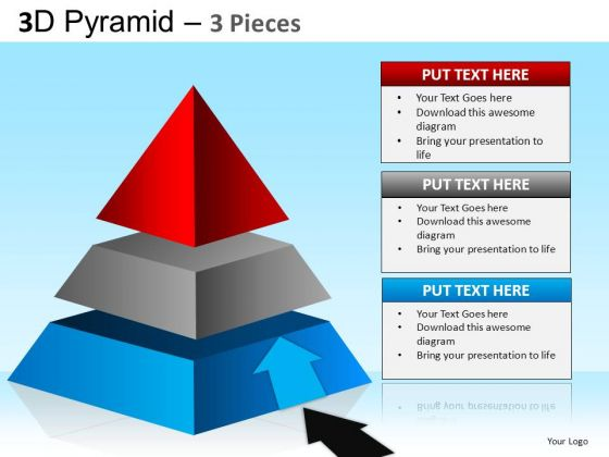 PowerPoint Designs Corporate Strategy Pyramid Ppt Slides