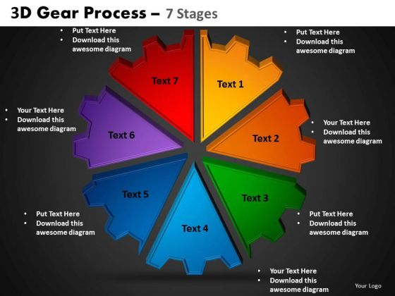 PowerPoint Designs Cycle Chart Gear Process Ppt Layouts