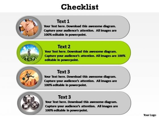 PowerPoint Designs Diagram Checklist Ppt Theme