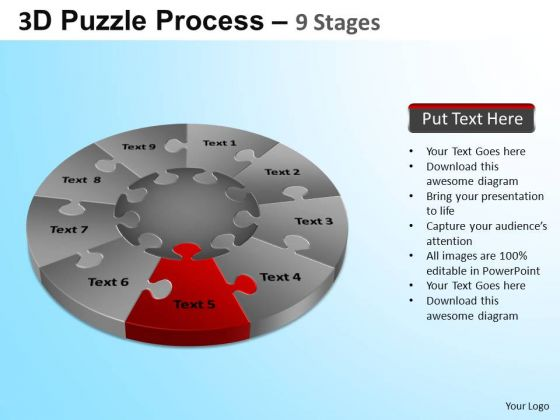 PowerPoint Designs Diagram Puzzle Segment Pie Chart Ppt Slides
