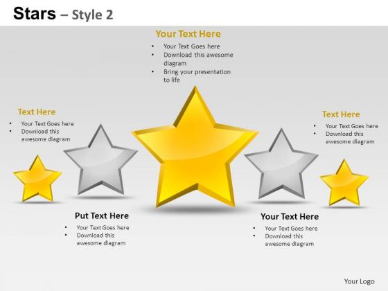 PowerPoint Designs Diagram Stars Ppt Layouts