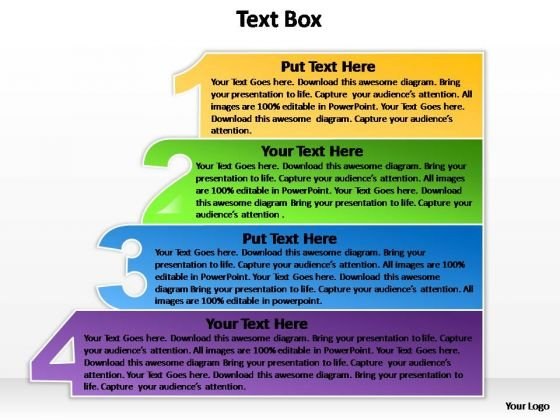 PowerPoint Designs Diagram Textbox 4 Ppt Theme