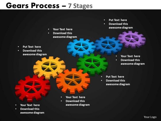 PowerPoint Designs Download Gears Process Ppt Presentation