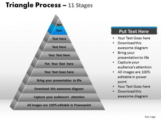 PowerPoint Designs Download Triangle Process Ppt Themes