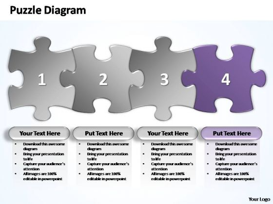 PowerPoint Designs Editable Business Stages Puzzle Ppt Design Slides