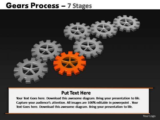 PowerPoint Designs Editable Gears Process Ppt Slide