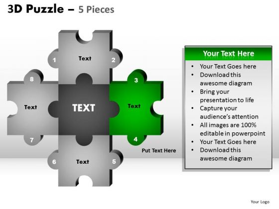 PowerPoint Designs Editable Puzzle Pieces Ppt Theme