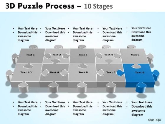 PowerPoint Designs Editable Puzzle Process Ppt Slide