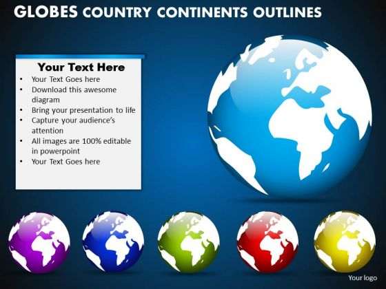 PowerPoint Designs Global Globes Country Ppt Process