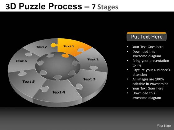 PowerPoint Designs Global Pie Chart Puzzle Process Ppt Process