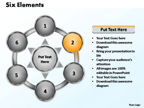 PowerPoint Designs Global Six Elements Ppt Slide