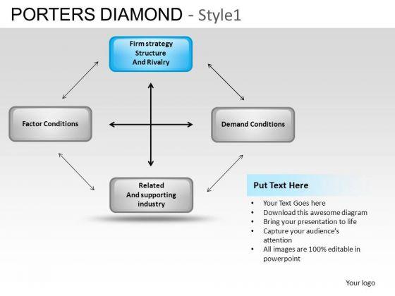 PowerPoint Designs Graphic Porters Diamond Ppt Slide