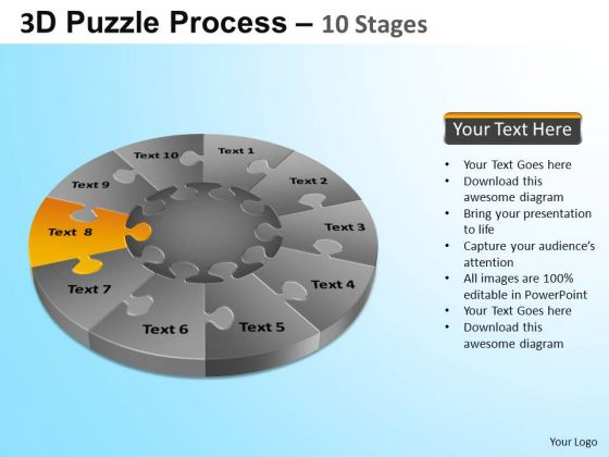 PowerPoint Designs Graphic Puzzle Segment Pie Chart Ppt Presentation