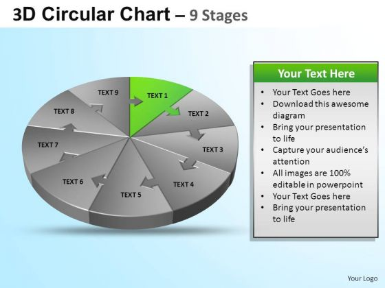 PowerPoint Designs Growth Circular Ppt Template