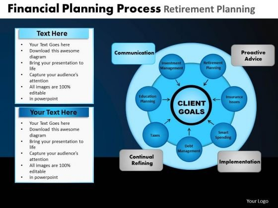 PowerPoint Designs Growth Financial Planning Ppt Slides