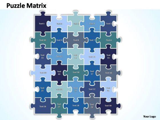 PowerPoint Designs Growth Puzzle Matrix Ppt Slides