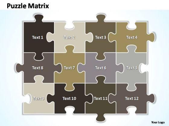 PowerPoint Designs Growth Puzzle Matrix Ppt Template