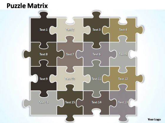 PowerPoint Designs Growth Puzzle Matrix Ppt Themes