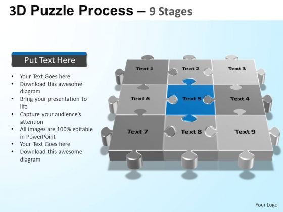 PowerPoint Designs Growth Puzzle Process Ppt Presentation Designs