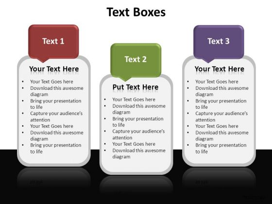 PowerPoint Designs Growth Textboxes Ppt Design Slides