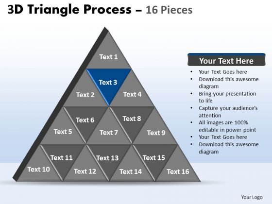 PowerPoint Designs Growth Triangle Process Ppt Slides