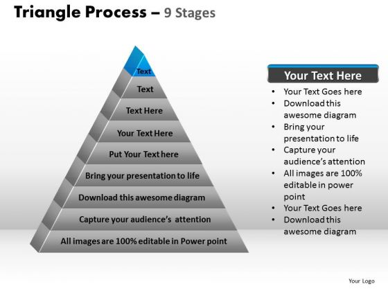PowerPoint Designs Growth Triangle Process Ppt Template