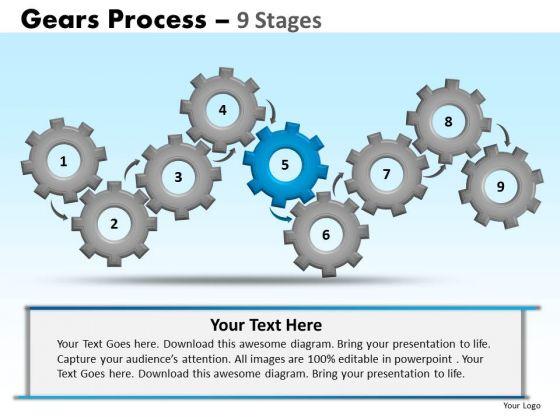 PowerPoint Designs Leadership Gears Ppt Slides