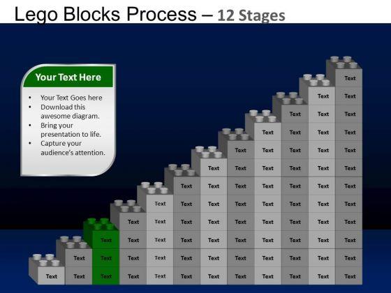 PowerPoint Designs Leadership Lego Blocks Ppt Template