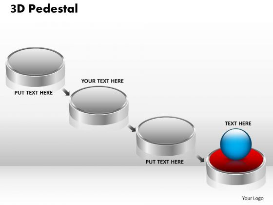 PowerPoint Designs Marketing 3d Pedestal Ppt Process