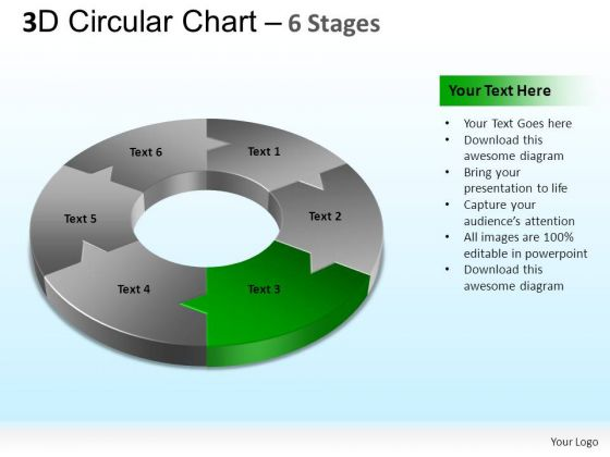 PowerPoint Designs Marketing Circular Chart Ppt Slides