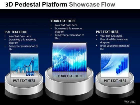 PowerPoint Designs Marketing Pedestal Platform Showcase Ppt Templates
