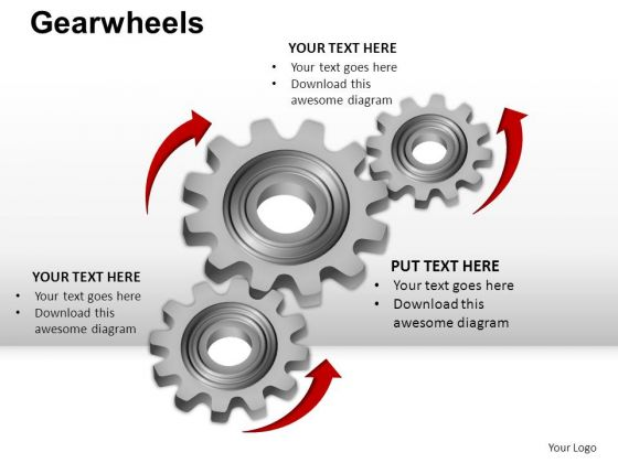PowerPoint Designs Process Gear Wheel Ppt Presentation