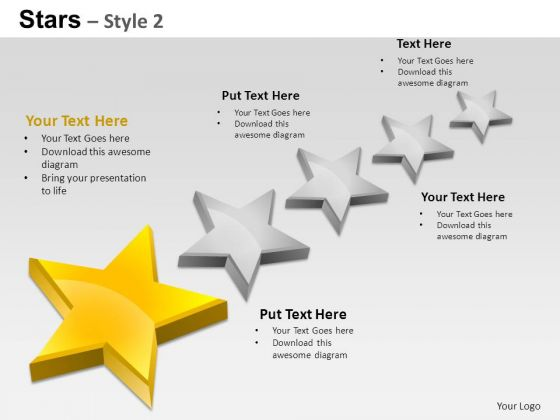 PowerPoint Designs Process Stars Ppt Layouts