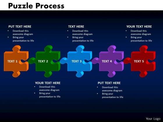 PowerPoint Designs Puzzle Process Business Ppt Presentation Designs
