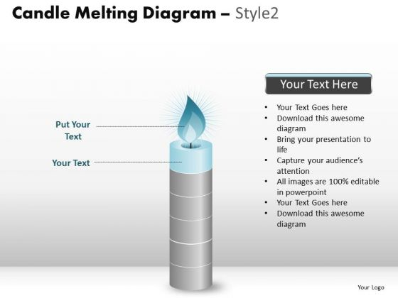 PowerPoint Designs Sales Candle Melting Ppt Slides