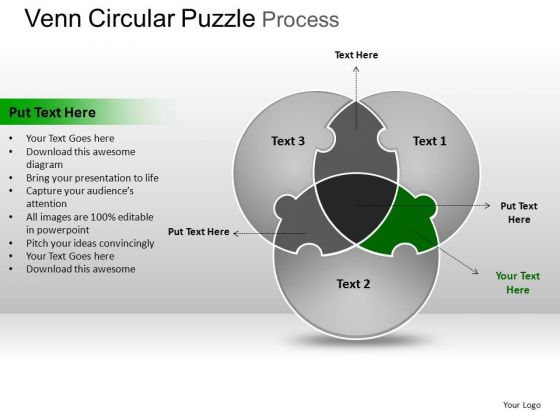 PowerPoint Designs Sales Circular Puzzle Ppt Designs