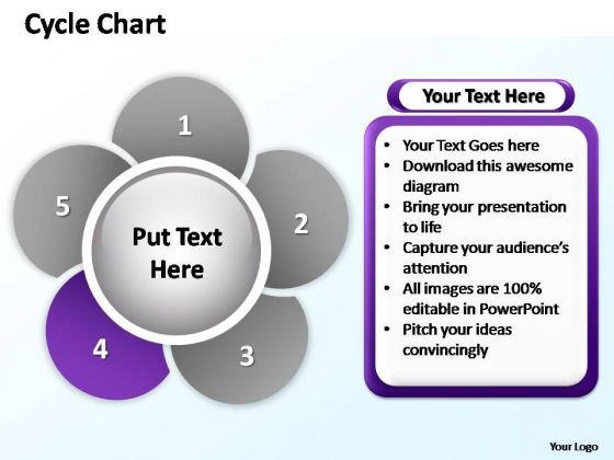 PowerPoint Designs Sales Cycle Chart Ppt Slides