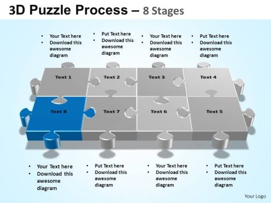PowerPoint Designs Sales Puzzle Process Ppt Themes