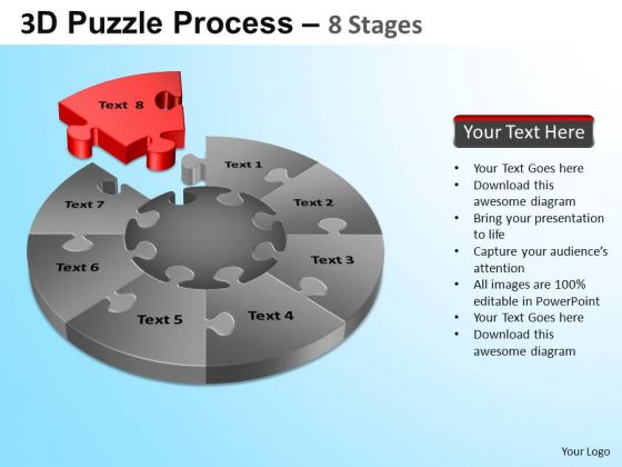 PowerPoint Designs Sales Puzzle Segment Pie Chart Ppt Presentation