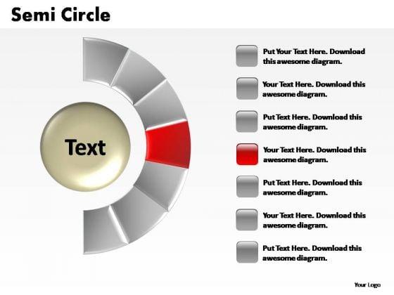 PowerPoint Designs Sales Semi Circle Ppt Slide Designs
