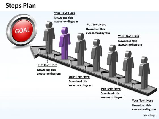 PowerPoint Designs Sales Steps Plan 7 Stages Style 5 Ppt Themes