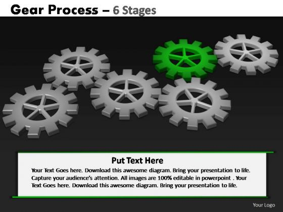 PowerPoint Designs Strategy Gears Process Ppt Slides